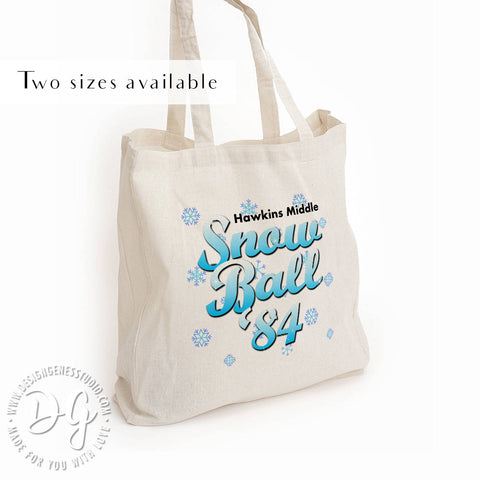 Snow Ball '84 tote bag, Stranger things Christmas gift, mike and eleven dance, friends don't lie, the upside down, Strange things fan gift