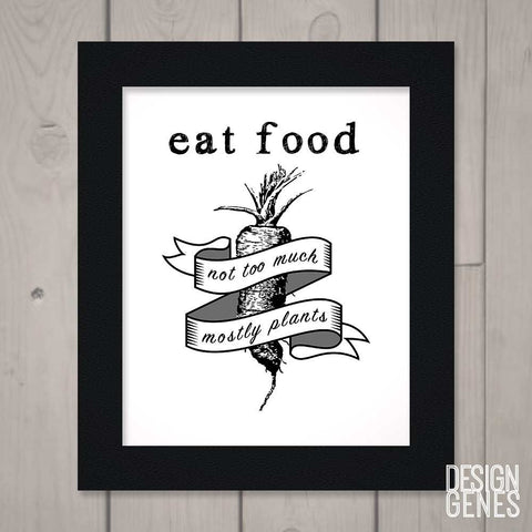 Eat food, not too much, mostly plant