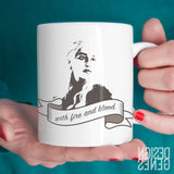 Game of thrones mug, Daenerys Targaryen quote mug, I will do what queens do, fire and blood, Game of Thrones gift, ASOIAF mug, GOT fans gift