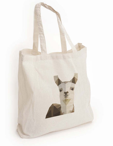 Llama tote bag, Geometric animal tote, animal lover gift, Cute Animal Tote, llama Canvas bag, Reusable shopping bag, book bag, Eco Tote Bag