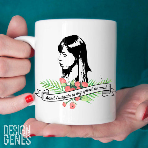 April Ludgate is my spirit animal mug, Parks and Rec quote mug, parks and rec fan gift, birthday gift, valentines day gift, 11oz coffee mug