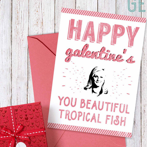 Printable Galentine S Day Card Leslie Knope Happy Galentine S Day Designgenes Studio