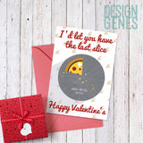 "Food Lover Valentine's card ""I'd let you have the last slice"""