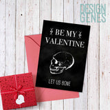 "Funny Valentine's card, ""Let us bone"""