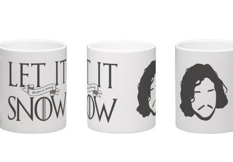 Game of Thrones mug, Jon Snow, Let It Snow Winter is Coming mug, ASOIAF quote mug, GOT fans gift, game of thrones gift, you know nothing jon