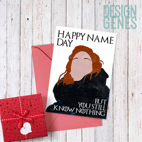 Printable Game Of Thrones Card Birthday Card Ygritte Happy Name
