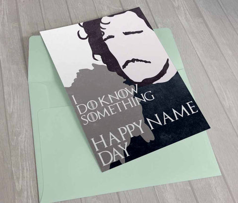 Printable Game of Thrones card birthday card name day card Jon