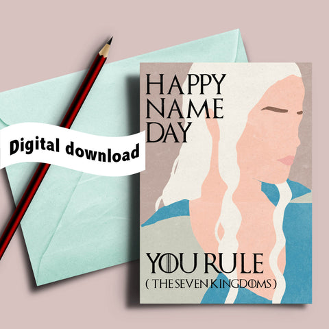Printable Game of Thrones bday card Daenerys Targaryen