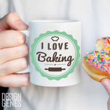 I love baking mug, mom gift, hitting people is frowned upon, baker gift, chef gift, birthday gift, food lover gift, funny mug, coffee mug