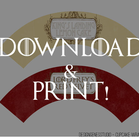Printable Game Of Thrones Party Decoration Game Of Thrones