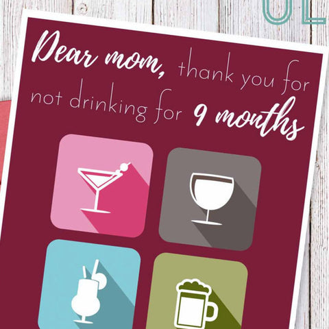 9 month rehab, mom and wine, snarky mother's day card, sarcastic card, Mother best friend, witty mother's day, funny card for mum