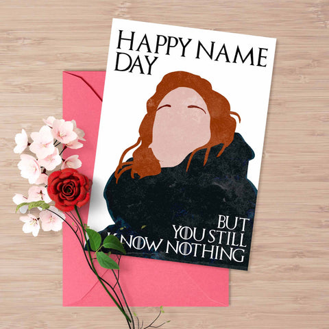 Game of Thrones Ygritte and Jon Snow name day card Happy name day