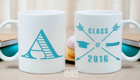 Class of 2016 mug, graduation gift, monogram mug, college grad gift, high school graduation, gift for her, personalized graduation gift