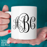 She believed she could so she did, monogram mug, graduation gift for her, monogrammed gift, personalized mug, monogrammed mug, grad 2016