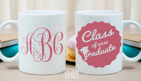 Class of 2016 mug, graduation gift, monogram gift, college grad gift, high school graduation, gift for her, personalized graduation gift