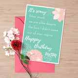 Printable birthday card, card for stepmom, adoptive mom, witty card for stepmom, sarcastic card for stepmom, Stepmom card, adoptive mom