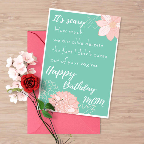 Printable Funny Birthday Card For Stepmom Adoptive Mom