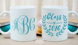 Class of 2018 personalized graduation monogram gift for college/high school graduation