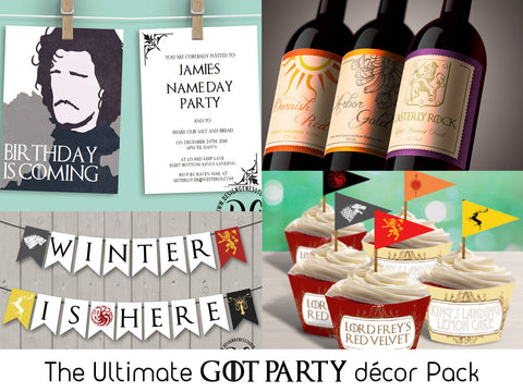 The Ultimate Game of Thrones Printable Party Pack