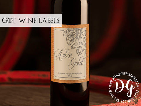 image about Printable Wine Bottle Label referred to as Printable Recreation of Thrones wine labels