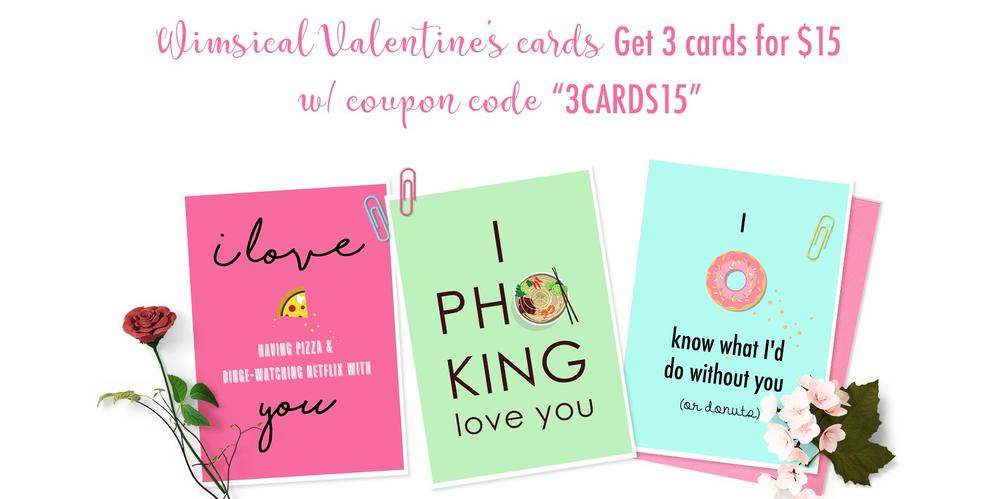 Whimsical Valentine's Cards