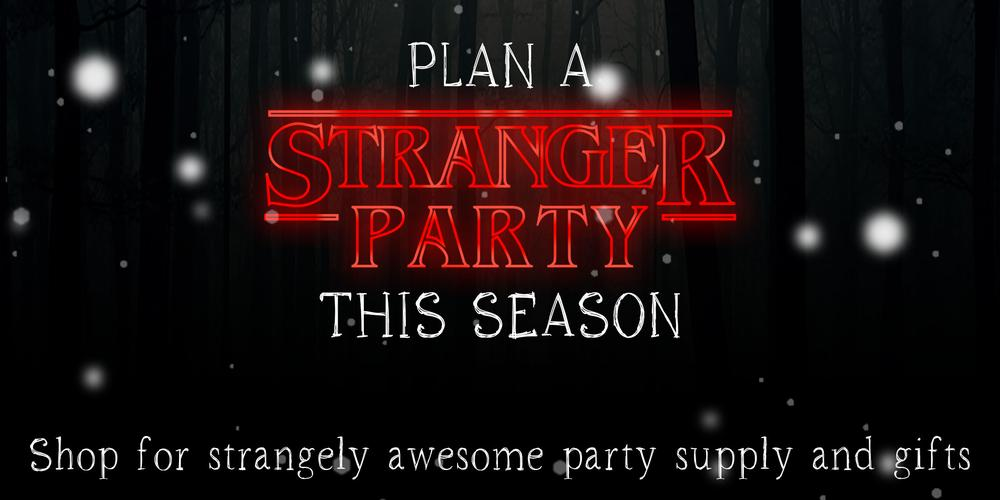 Stranger Things party decor and gifts