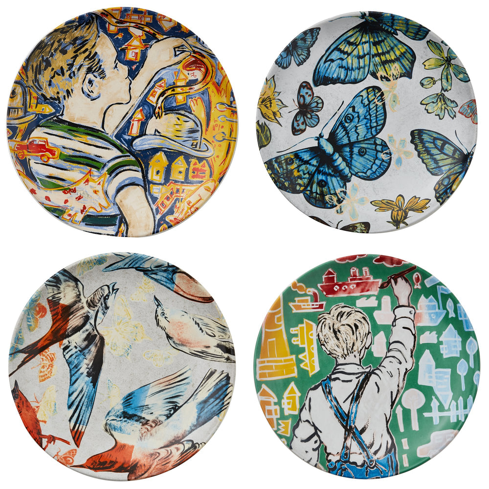 Robert Gordon Pottery - 4 Pack of Side Plates, David Bromley