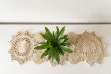 Diamond Table Runner - Natural Jute 90cm x 50cm