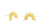 Tiger Tree Earrings - Gold Sun Ray Studs