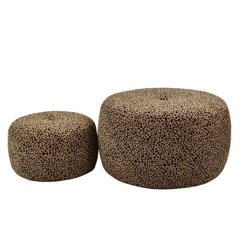 Lola Ottomans - 2 Sizes Leopard Print