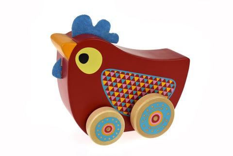 Wooden Music Box on Wheels