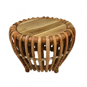 Marley Rattan Side Table