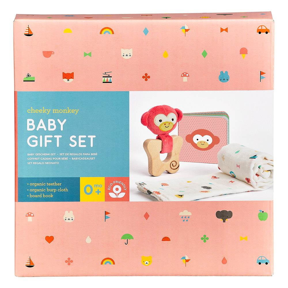 Petit Collage Little Monkey Baby Gift Set