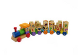 Spinning Wooden ABC Block Train