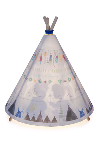 Teepee Light - Blue/Grey