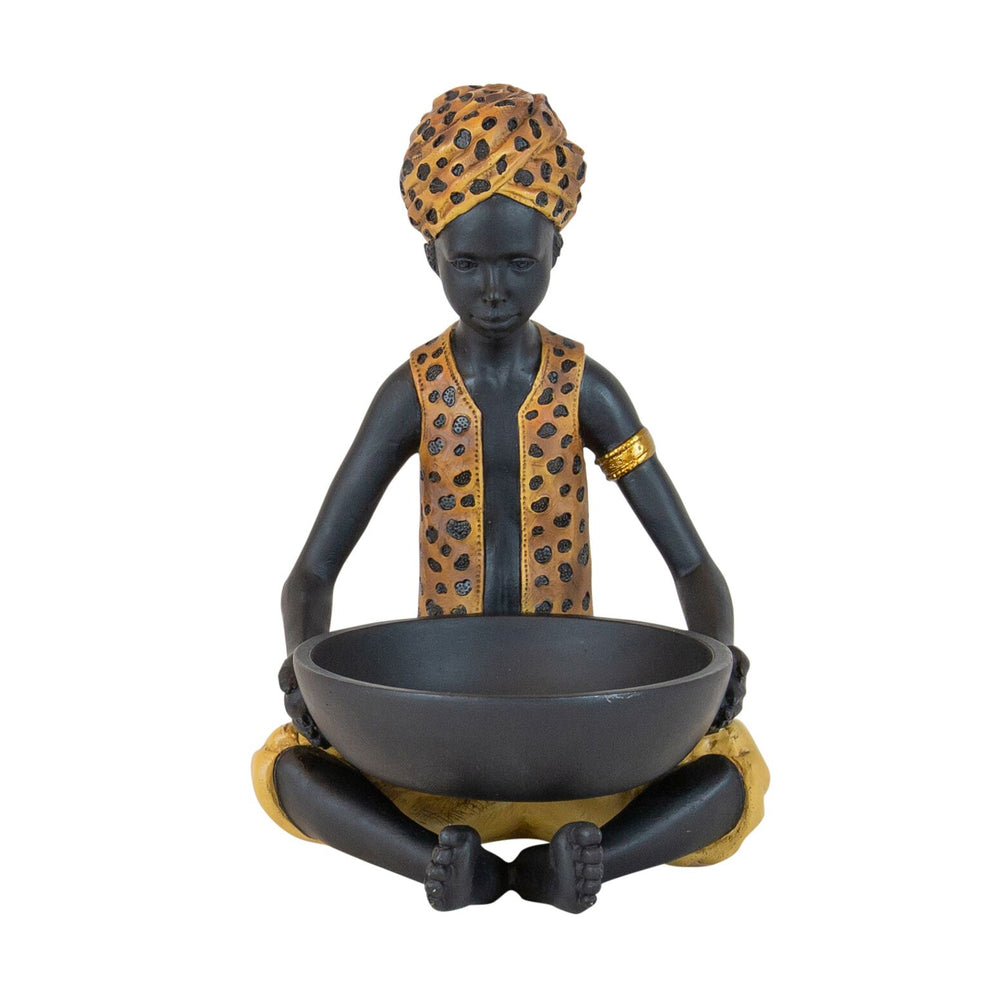 Leopard Man With Bowl