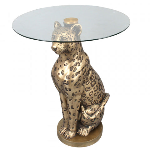 Leo Leopard Side Table