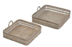 Woven Trays with handle