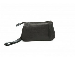 Geelong - Black Leather Clutch Bag
