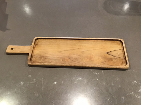 Long Rectangular Teak Paddle