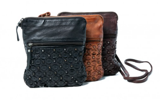 Ophelia Handbag - Leather Sling bag/Clutch - Assorted Colours
