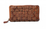 Paisley Leather Wallet - Assorted Colours