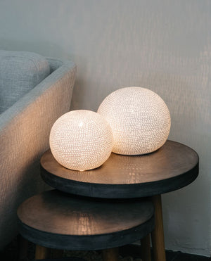 Dianna Porcelain Sphere Table Lamp (small)