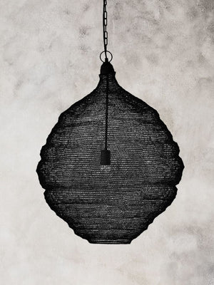 Pendant/Lamp Shade - Black Teardrop