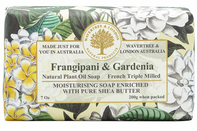 Wavertree and London Soap - Frangipani & Gardenia 200gm