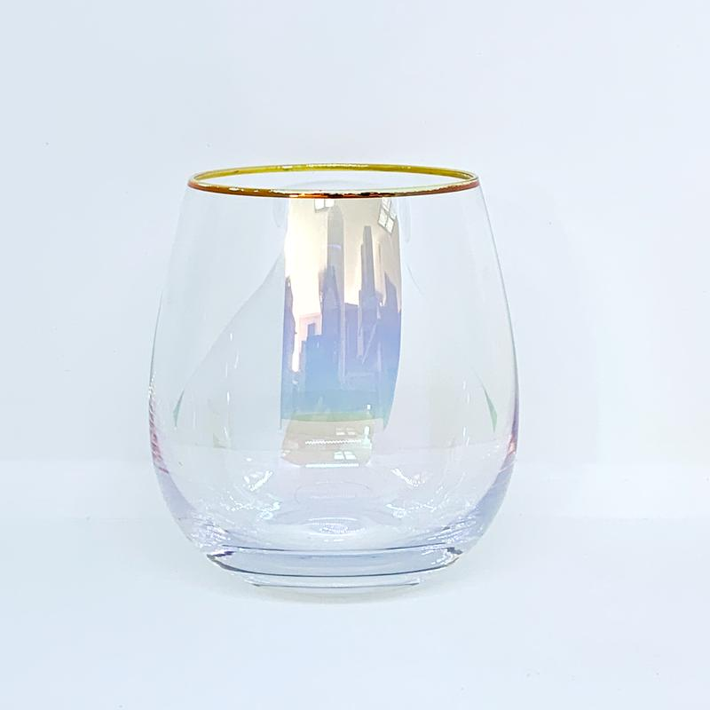 Lustre Crystal Glasses - with Gold Trim ASSORTED