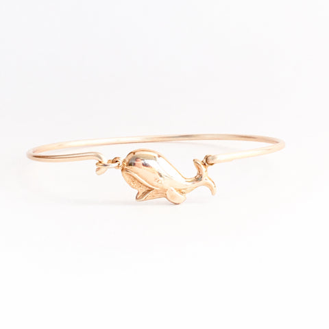Happy Whale Bangle Bracelet - Love Andrea's Closet