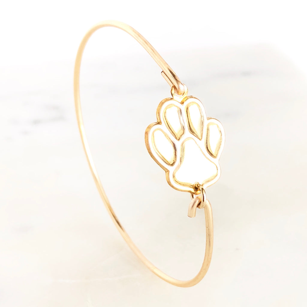 Paw Bangle bracelet - Love Andrea's Closet