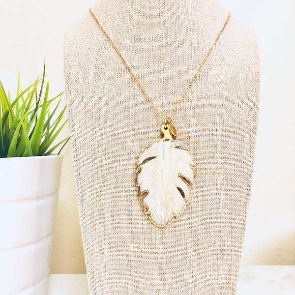 Palm Tree Pendant Necklace - Love Andrea's Closet