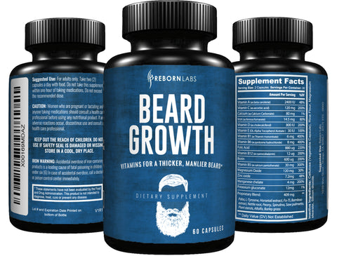 Beard Growth Vitamins with Bamboo Extract for Silicon